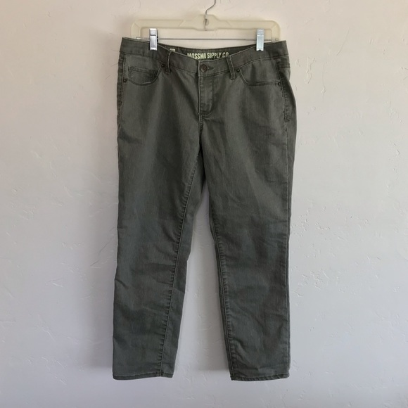Mossimo Supply Co. Denim - Mossimo Supply Co Olive Green Cropped Jeans 11